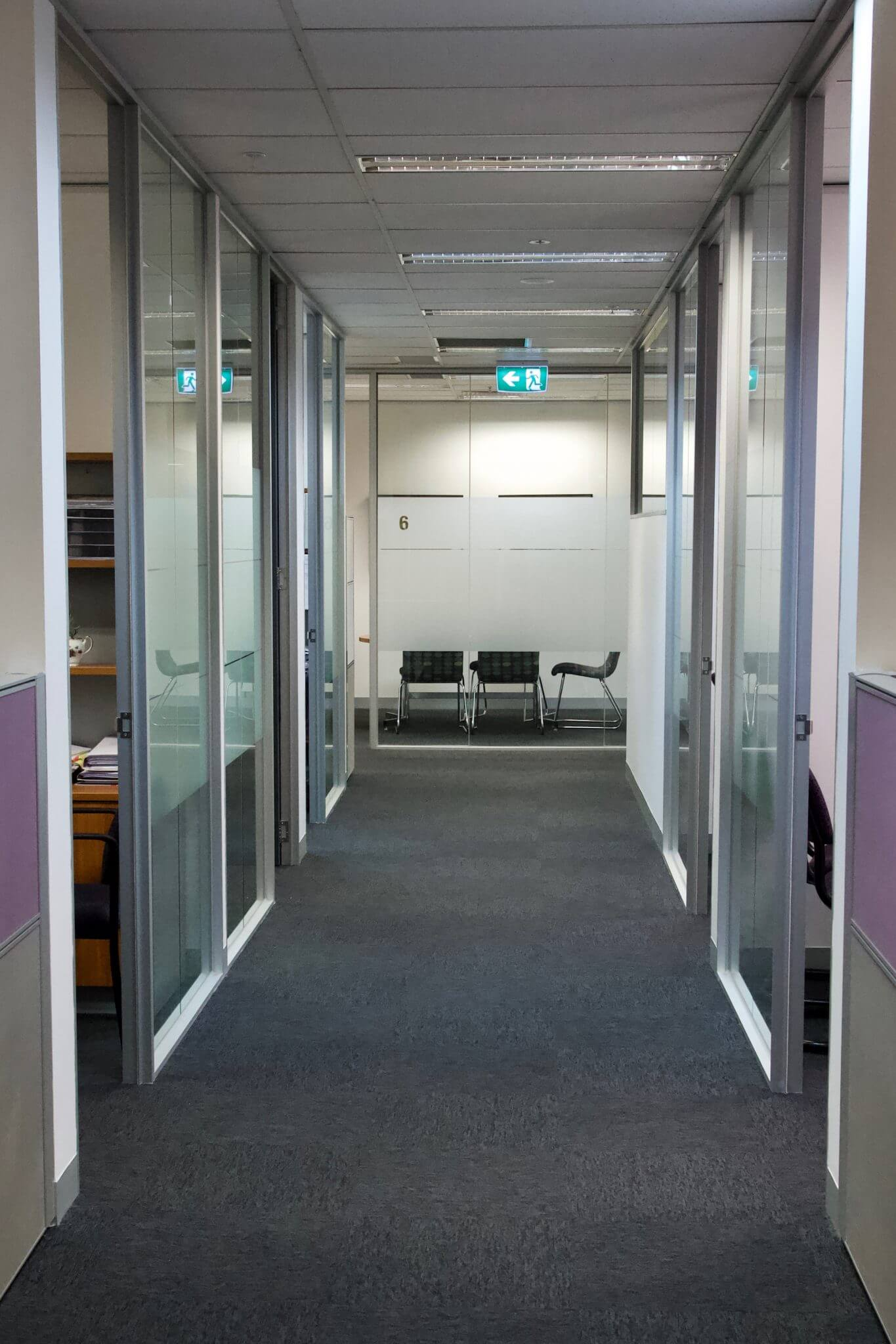 floor to ceiling glass office partitions