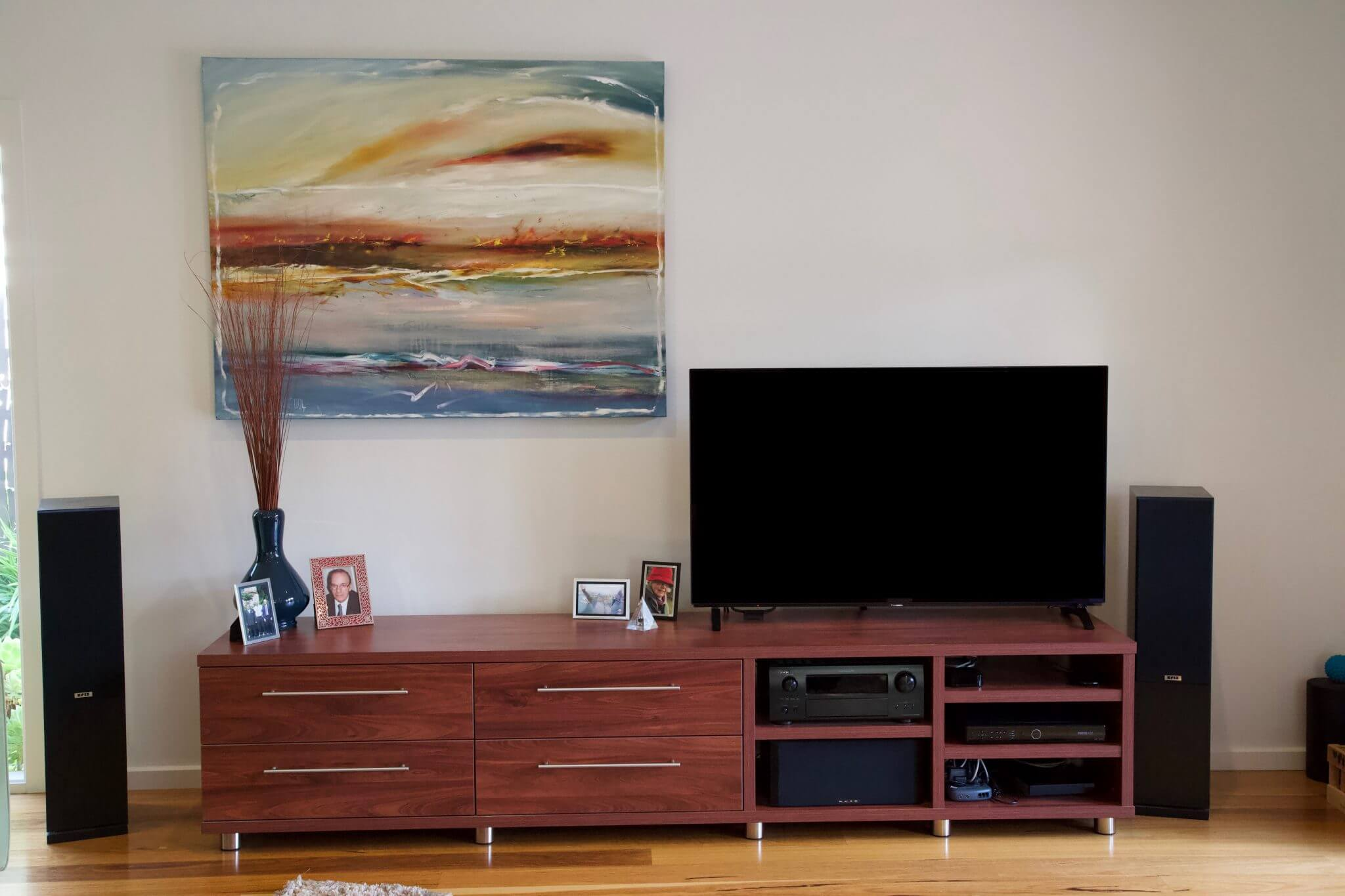 Furniture custom built in melbourne for home entertainment unit