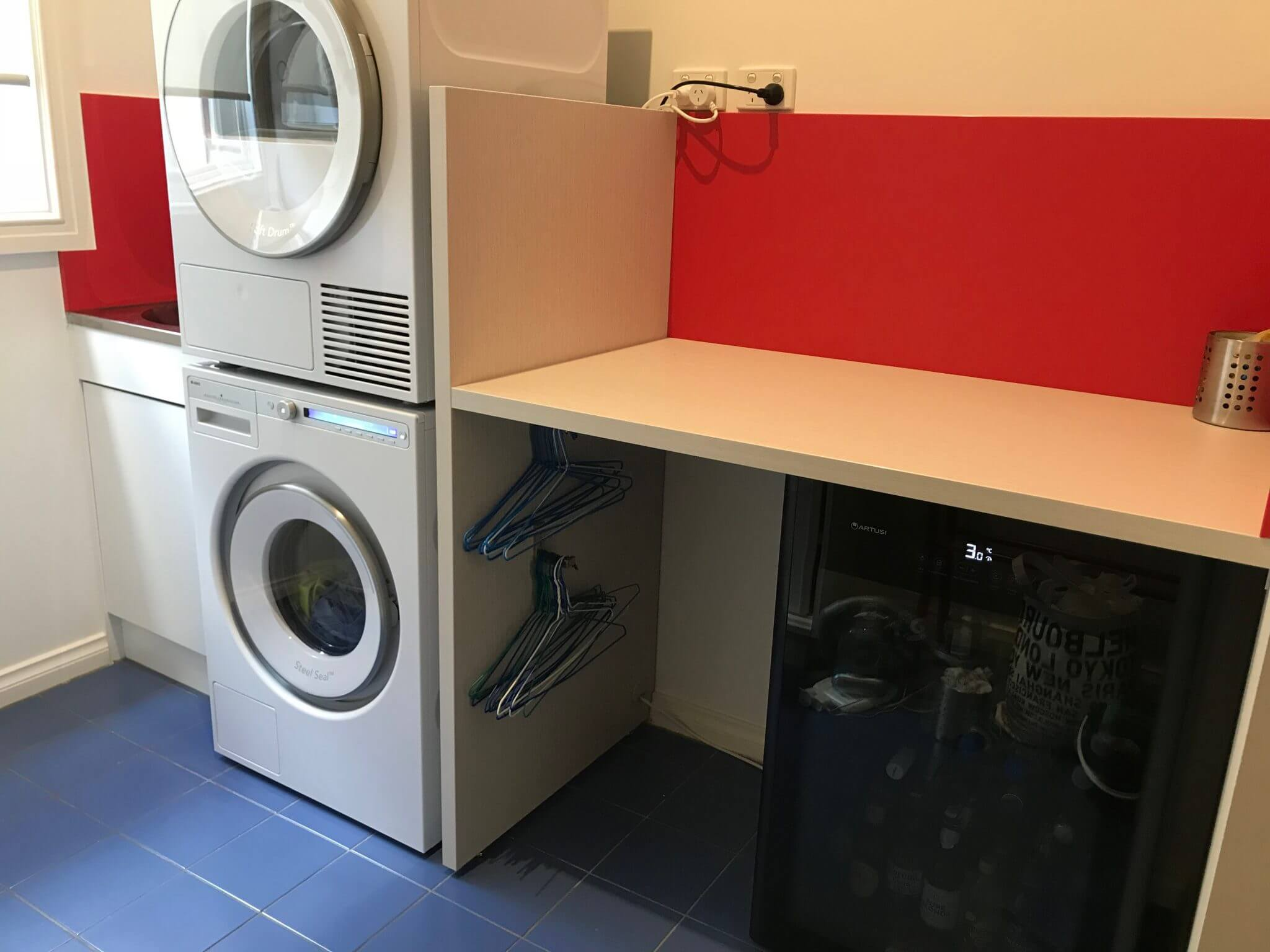 Laundry fitout with custom storage area